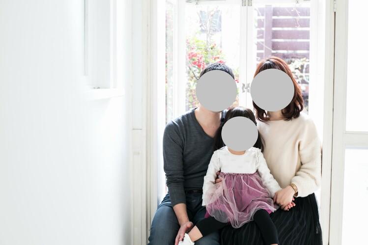 フォトハウスリバースで撮影した家族写真
