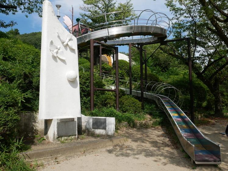 五月山公園のローラーすべり台