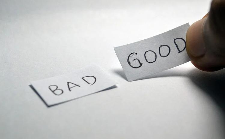 BADとGOODと書かれた紙